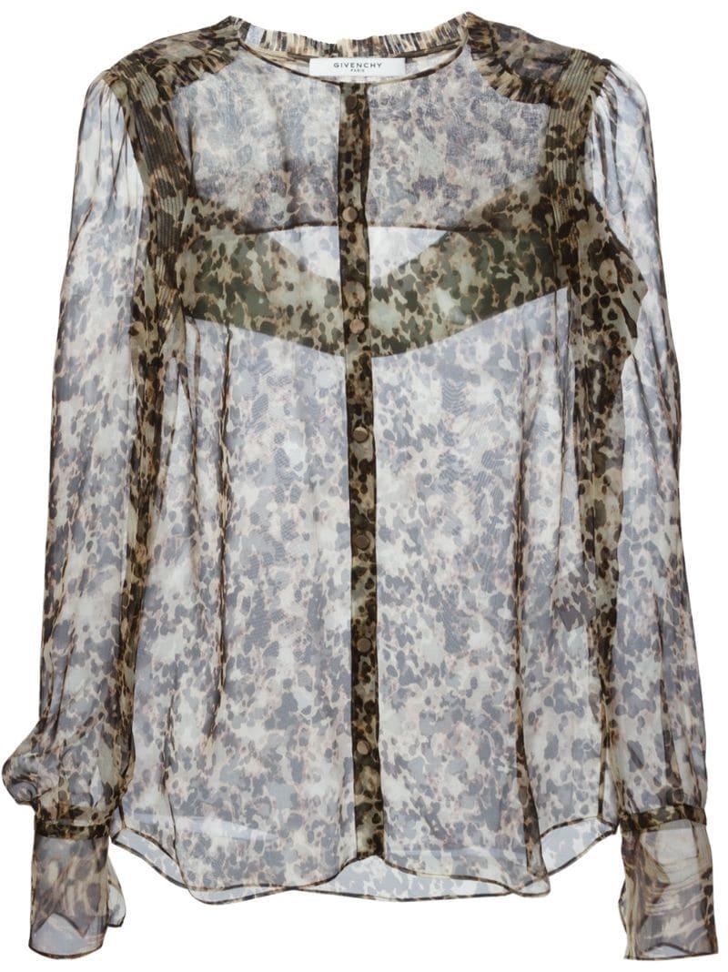 Блузка с леопардовым принтом в москве