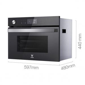 Photo Smart built-in steam oven Xiaomi Viomi Steam Convection Oven King Black (VSO4501-B)