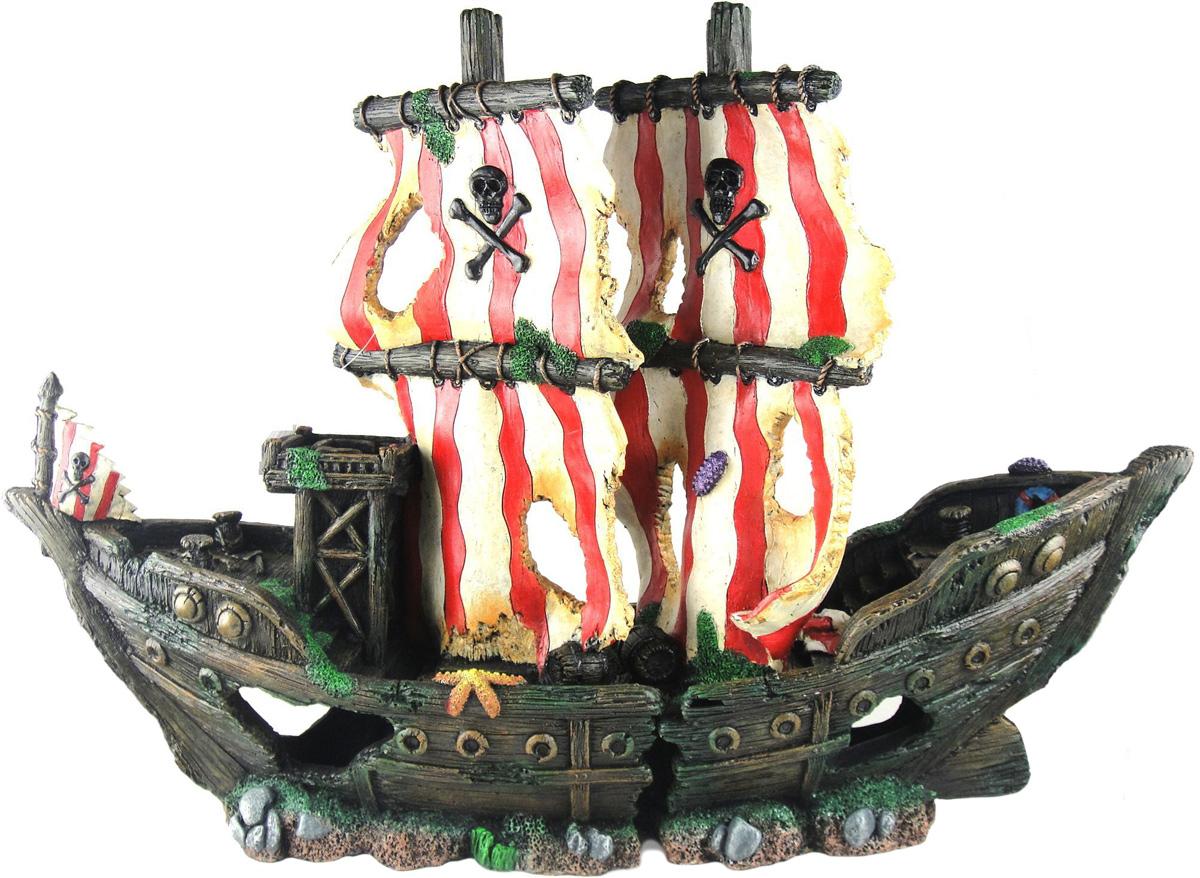 для картинки затонувших кораблей для аквариума обставлен