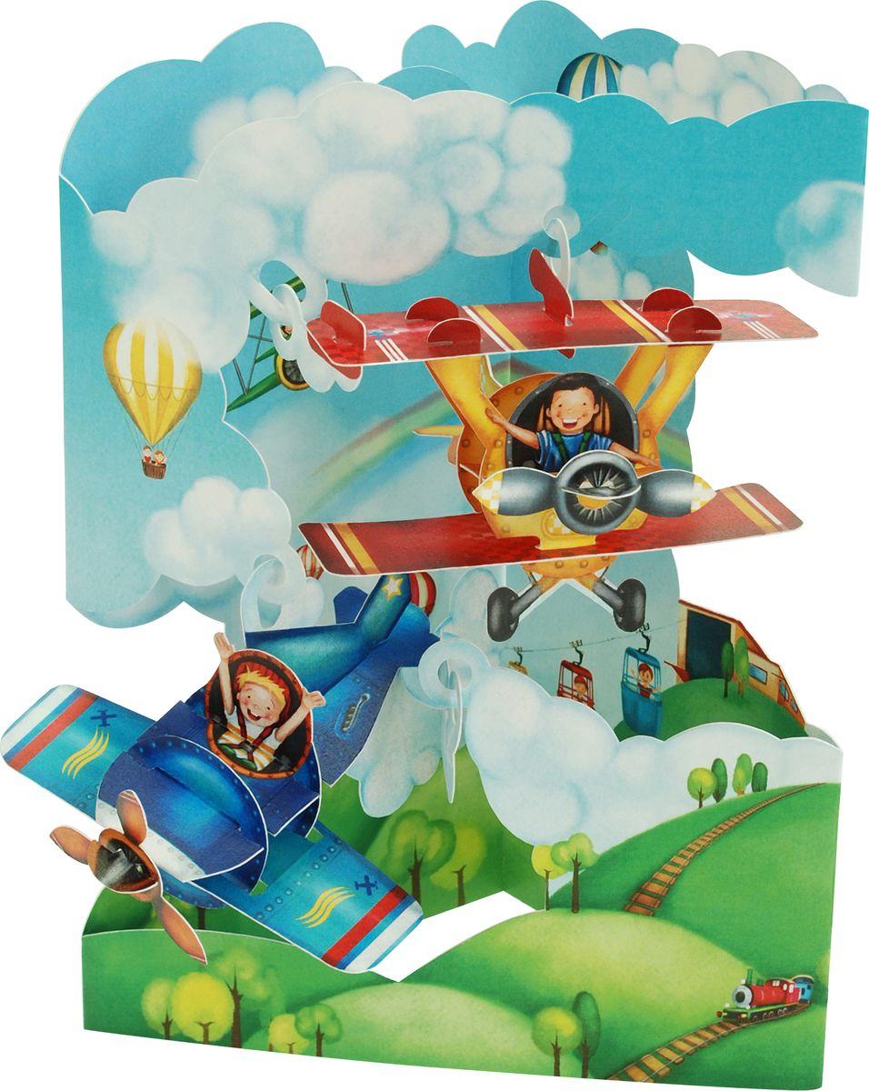 Объемные открытки самолеты