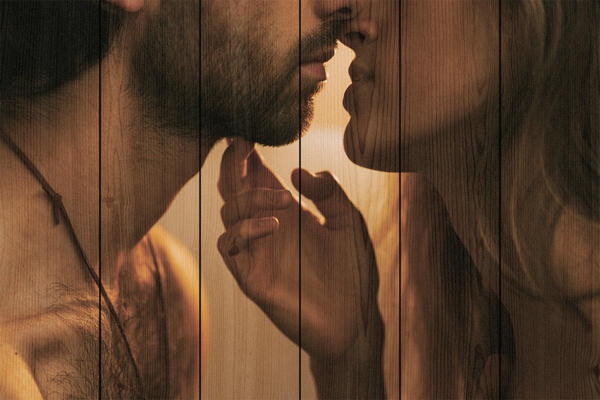 Поцелуй женский картинки