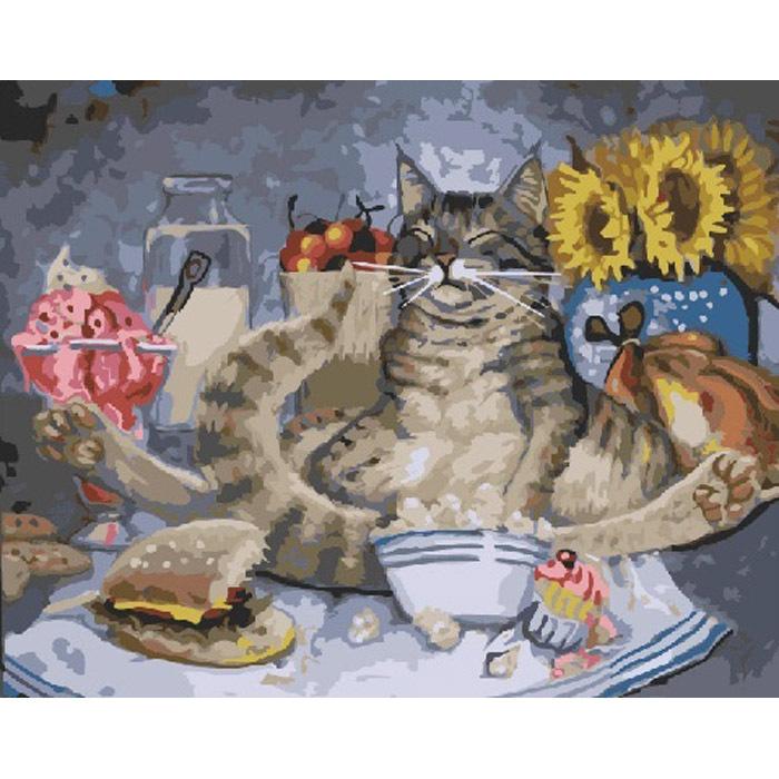 Сытый кот картинки