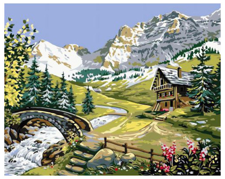 картина альпийская идиллия нужно