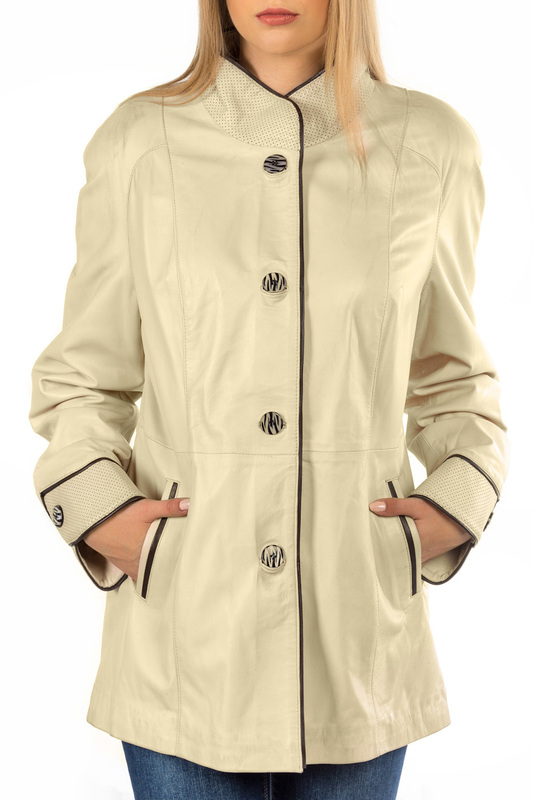 Фото Leather jacket MIO CALVINO MIOHA10013W_BEIGE