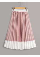 Two Tone Pleated Skirt SheIn