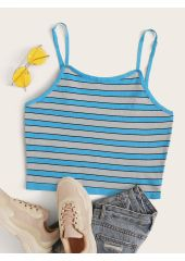 Plus Striped Cami Knit Top SheIn