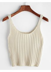 Ribbed Knitted Cami Top SheIn