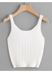 Ribbed Knit Crop Tank Top SheIn