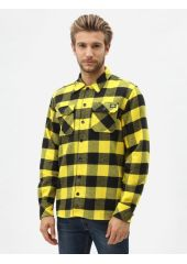 Рубашка DICKIES Sacramento Relaxed Long Sleeve Shirt Yellow 2020 5053823248178