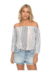 Блузка женская ROXY Crossingstripes J Marshmallow Trio Stripe Roxy 3613373445377