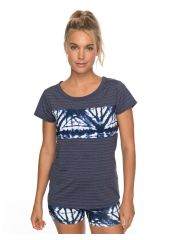 Футболка женская ROXY Easy Game Tee J Dress Blues Geometric Feeling Roxy 3613373346094
