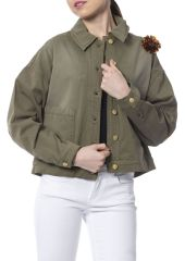 Jacket Silvian Heach PGP18982GB_GREEN_MILITARY