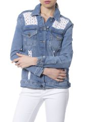 Jacket Silvian Heach PGP18050GB_JEANS_MEDIUM