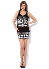 Юбка PunkQueen SKIRT2-BLACKWHITE