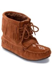 Мокасины Harvester Suede Moccasin Lined женск Manitobah