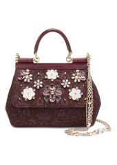 Сумка Sicily small  с отделкой кристаллами Limited edition Dolce & Gabbana 0116/BB6003/B9H30