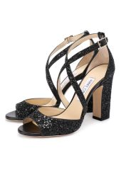 Босоножки Carrie 100 с глиттером Jimmy Choo CARRIE 100/CGF