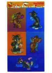 Наклейки 3D ACTION! TOM& JERRY 12*20,5см, 6 дизайнов Action! Наклейки 3D TOM& JERRY