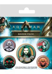Набор значков Aquaman: Heavy Hitters Of The Seas Pyramid International