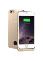 Чехол-аккумулятор INTERSTEP Metal battery case для iPhone 6/7 gold