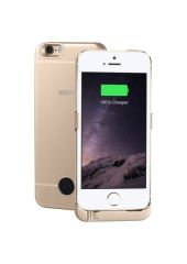 Чехол-аккумулятор INTERSTEP Metal battery case для iPhone 5/5S/SE gold