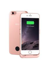 Чехол-аккумулятор INTERSTEP Metal battery case для iPhone 6/7 rose gold
