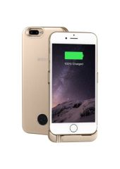 Чехол-аккумулятор INTERSTEP Metal battery case для iPhone 6 Plus/7 Plus gold