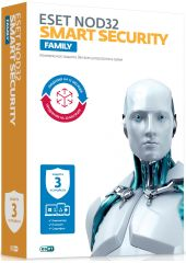 ПО Eset NOD32-ESM-1220(CARD)-1-3 NOD32 Smart Security Family - универ лиц продл на 20 мес или новая на 3 devices 1 year Card ESET NOD32-ESM-1220(CARD)-1-3