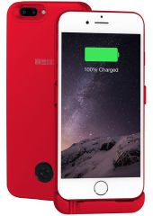 Interstep чехол-аккумулятор для Apple iPhone 7 Plus/6 Plus, Red (5000 мАч) IS-AK-PCI7P6PRD-REDB201