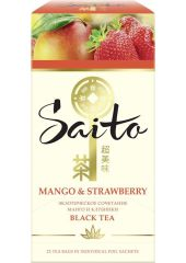 Чай в пакетиках Saito Mango & Strawberry, черный, 25 пакетиков Mango & Strawberry, черный