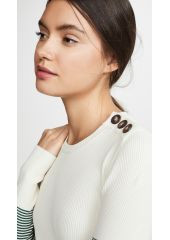 Cedric Charlier Contrast Sleeve Sweater