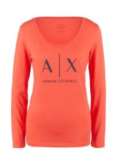 Лонгслив женский Armani Exchange 8NYTDG YJ16Z оранжевый XS
