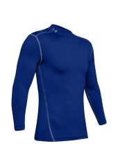 Лонгслив Under Armour ColdGear Armour Compression Mock LS, 400 синий, SM