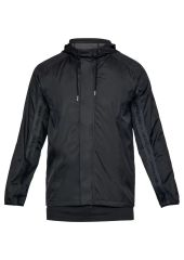 Куртка Under Armour SC30 Wind Hooded Full Zip Hooded, 001 черная, SM