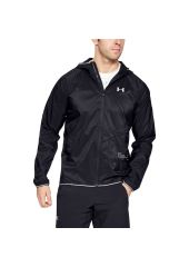 Куртка Under Armour Qualifier Storm Packable Full Zip Hooded, 001 черная, MD