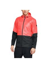 Куртка Under Armour Hybrid Windbreaker Hooded FZ, 986 красная/черная, SM