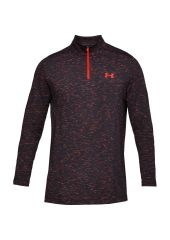 Лонгслив Under Armour Threadborne Seamless Half Zip LS, 016 черный/красный, XL