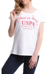 Футболка женская U.S. Polo Assn. G082GL0110GREMBO BY0001 белая 50 RU U.S. POLO Assn.