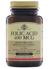 Фолиевая кислота Solgar Folic Acid 250 табл. без вкуса