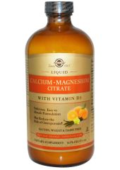 Магний, витамин D3 Solgar Liquid Calcium Magnesium Citrate with Vitamin D3 473 мл апельсин