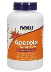 Антиоксидант NOW Acerola Powder 240 г натуральный