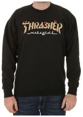 Свитшот THRASHER Calligraphy Crewneck Black 2020 Thrasher 010202040636