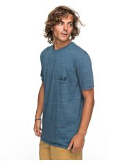 Футболка мужская QUIKSILVER Orglonglosta M Real Teal Heather Quiksilver 3613373398994