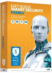 Антивирус Eset NOD32 Smart Security Family - лицензия на 1 год на 5ПК