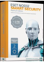 Антивирус Eset NOD32 Smart Security Platinum Edition - лицензия 3ПК 2 года Box