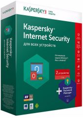 Антивирус Kaspersky Internet Security Multi-Device c Pas Man-r 2ПК 1 год Base Box