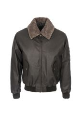 Jacket WOODLAND LEATHERS SRG648_BROWN_WAXY
